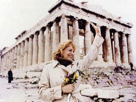 Melina Mercouri en el Partenon
