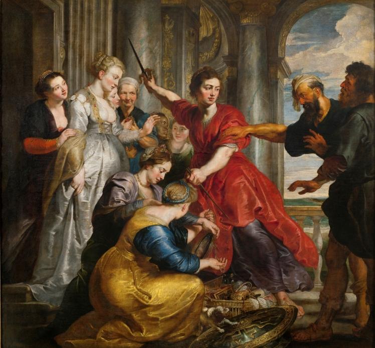 Aquiles descubierto por Ulises, Rubens y Van Dyck, 1618